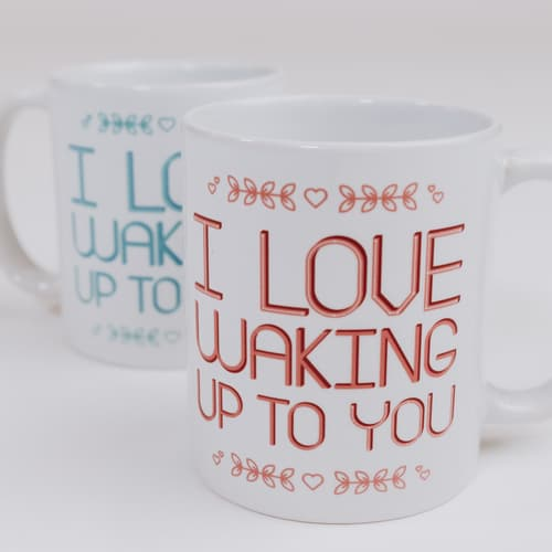 Love Waking Up - Set of 2 Mugs