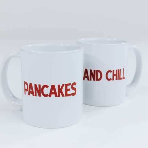 Pancakes and Chill - Set of 2 Mugs