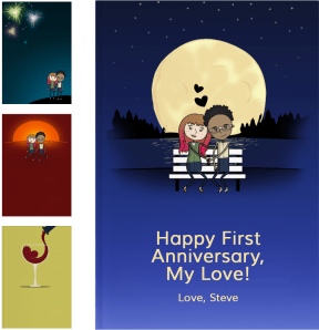 Personalized First Anniversary Gifts - LoveBook Covers
