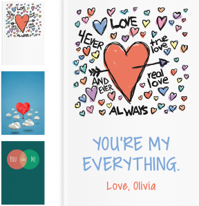 Personalized Romantic Gifts - LoveBook Covers