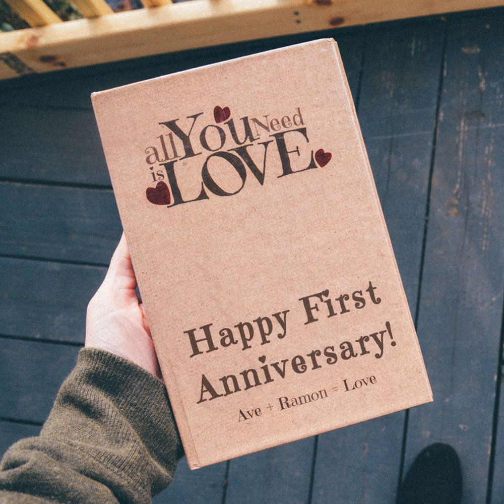 Personalized First Anniversary Love Book